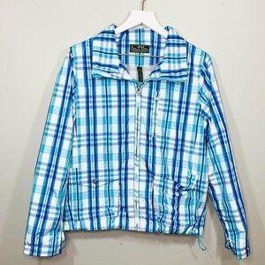 LAUREN Ralph Lauren active wear plaid jacket rain